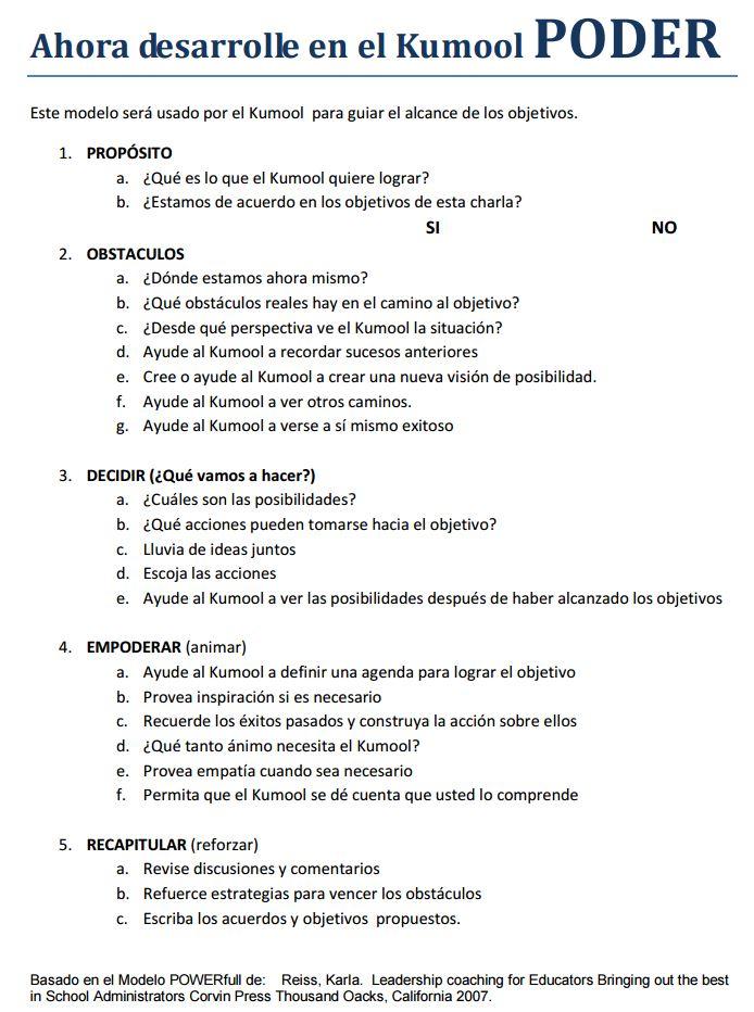 Kumool Modelo de Coaching Educativo Maya ¿Cómo dar PODER a nuestros ...