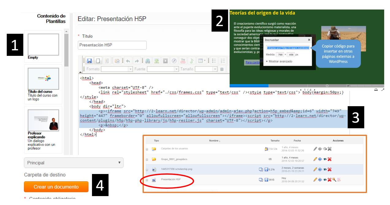 Cómo crear un objeto de aprendizaje con H5P? Segunda Parte | BLOG ...